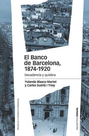 EL BANCO DE BARCELONA, 1874-1920