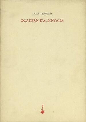QUADERN D'ALBINYANA